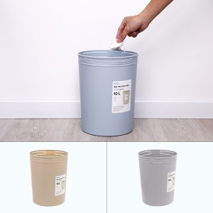 Sọt rác tròn Inochi Hiro 10L 23.6 x 23.6 x 30 cm (giao màu ngẫu nhiên)