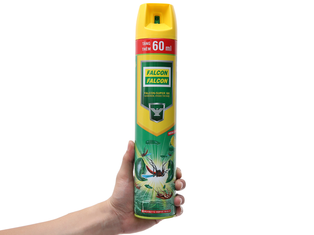 Bình xịt côn trùng Falcon SUPER 100 Hương Chanh 600ml 5