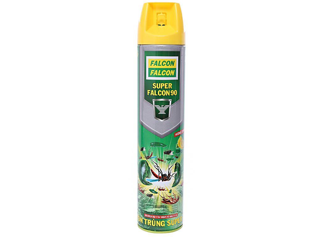 Bình xịt côn trùng Falcon 90 hương chanh 600ml 1