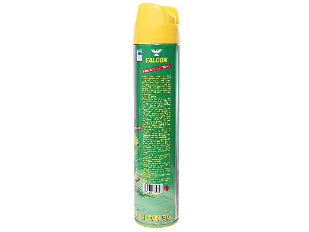 Bình xịt côn trùng Falcon 90 hương chanh 600ml 2