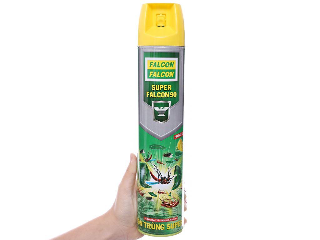 Bình xịt côn trùng Falcon 90 hương chanh 600ml 3