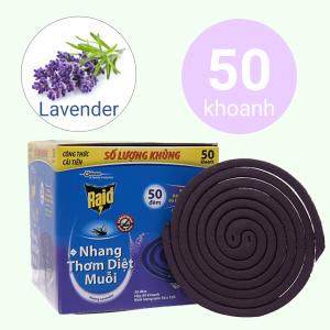 50 khoanh nhang muỗi Raid hương lavender 600g