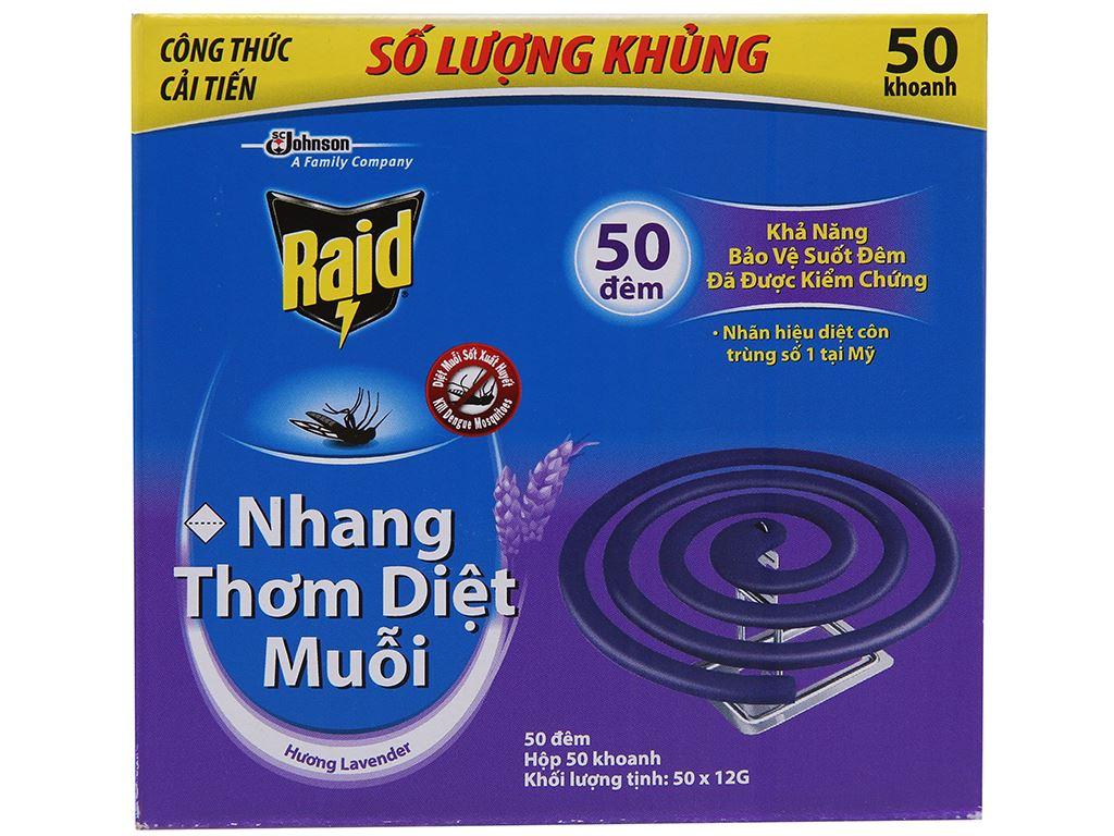 50 khoanh nhang muỗi Raid hương lavender 2