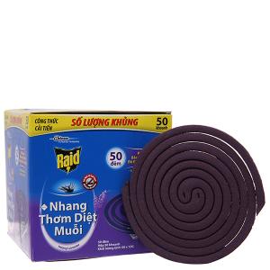 50 khoanh nhang muỗi Raid hương Lavender