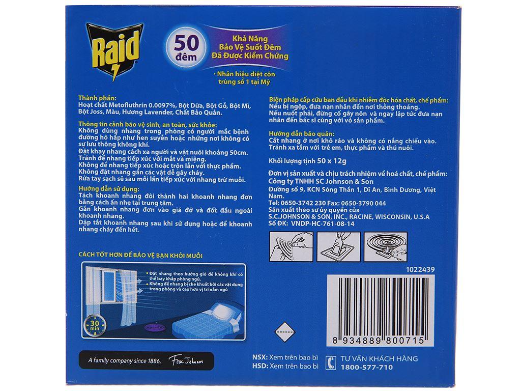 50 khoanh nhang muỗi Raid hương Lavender 3