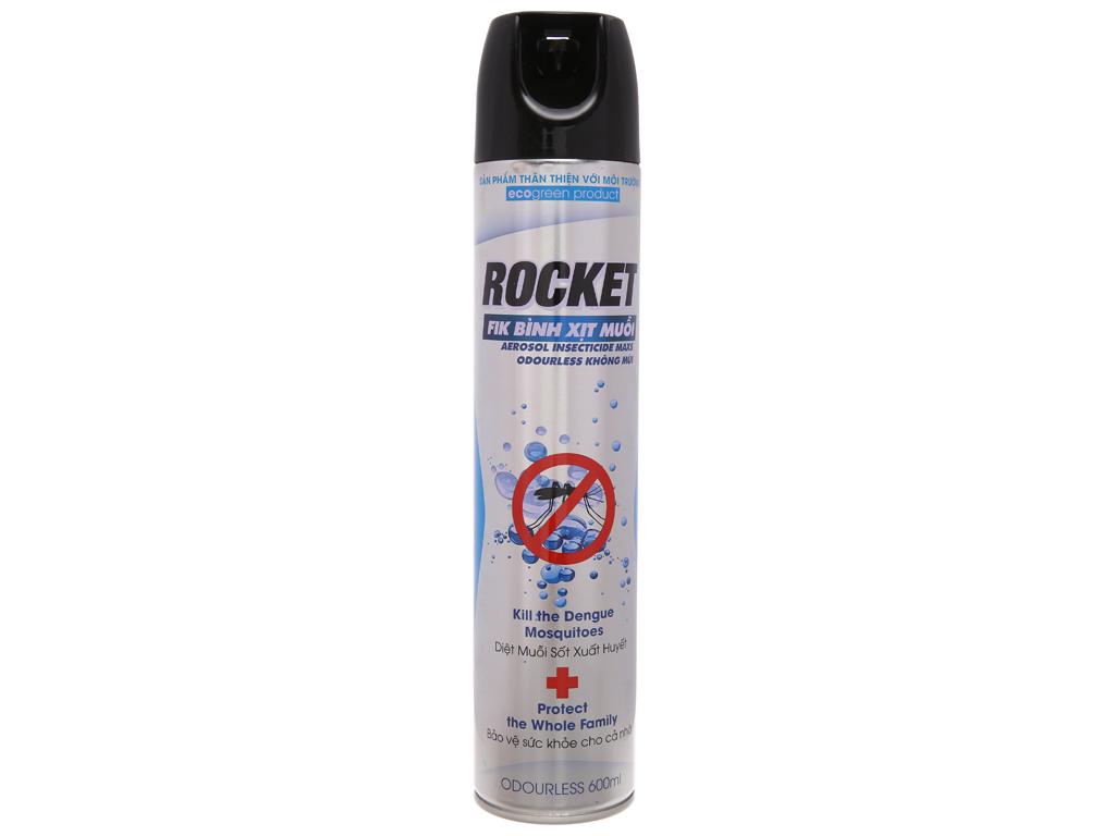 Bình xịt muỗi Rocket không mùi 600ml 2