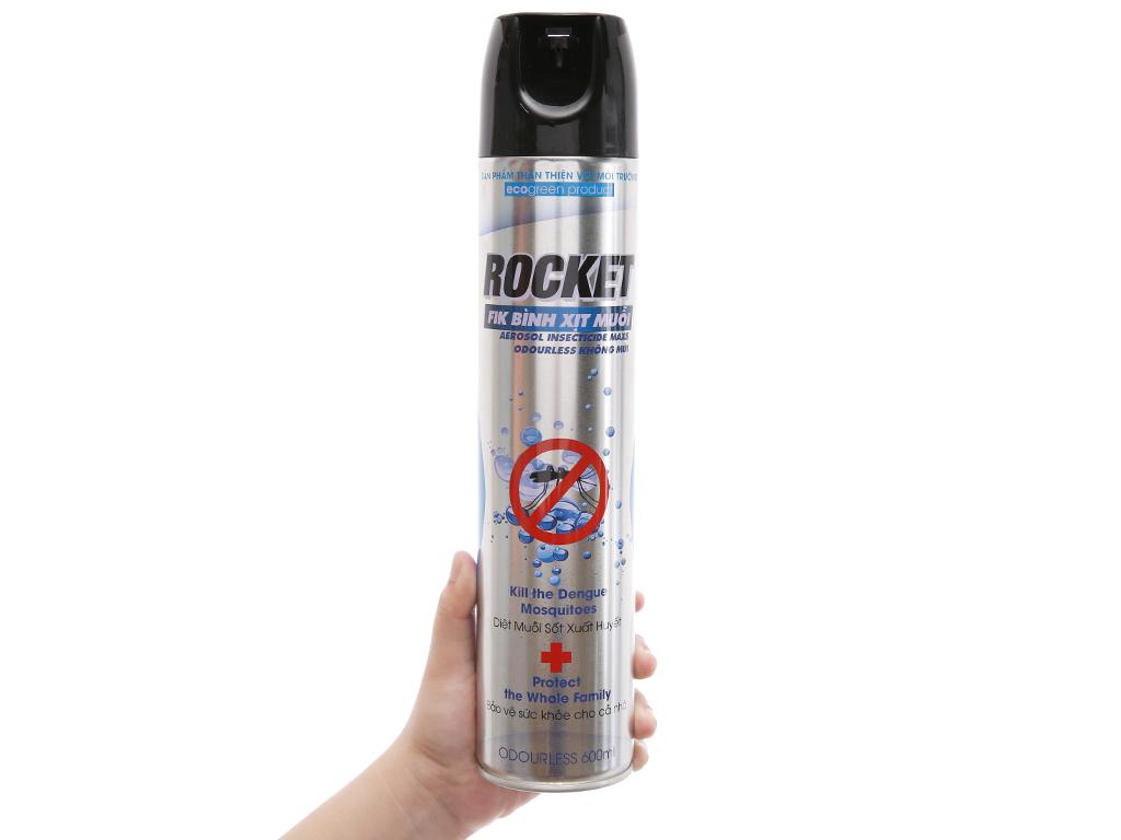 Bình xịt muỗi Rocket không mùi 600ml 4