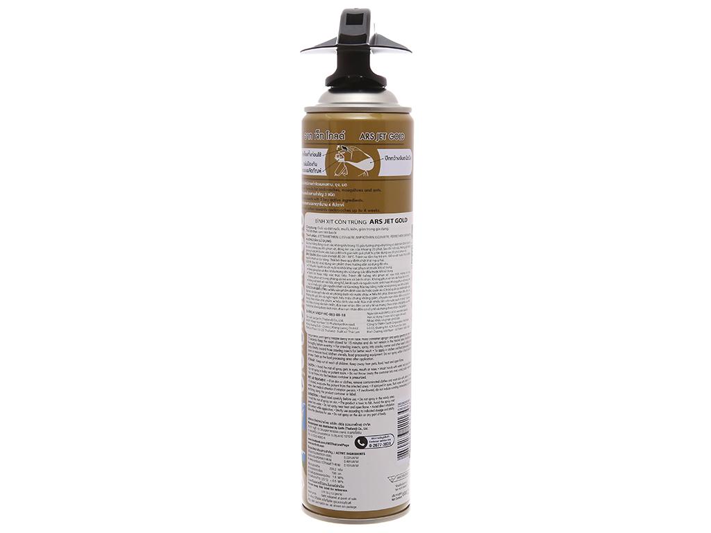 Bình xịt côn trùng ARS Jet Gold Không mùi 600ml 2