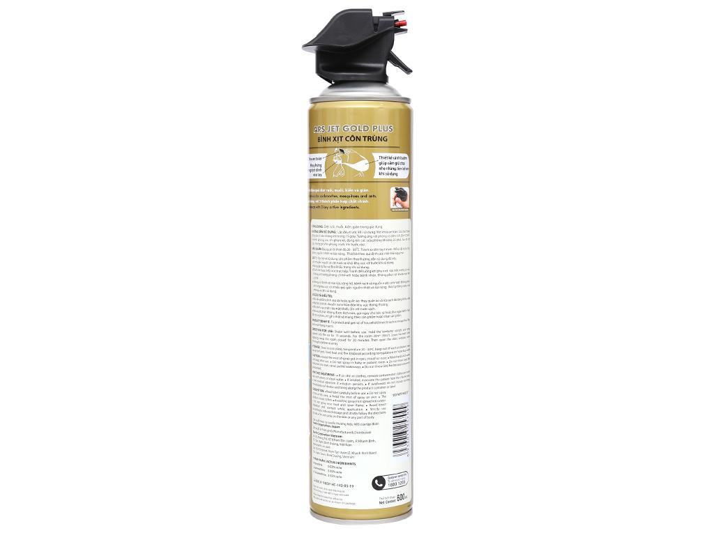 Bình xịt côn trùng ARS Jet Gold Plus hương Lavender 600ml 2