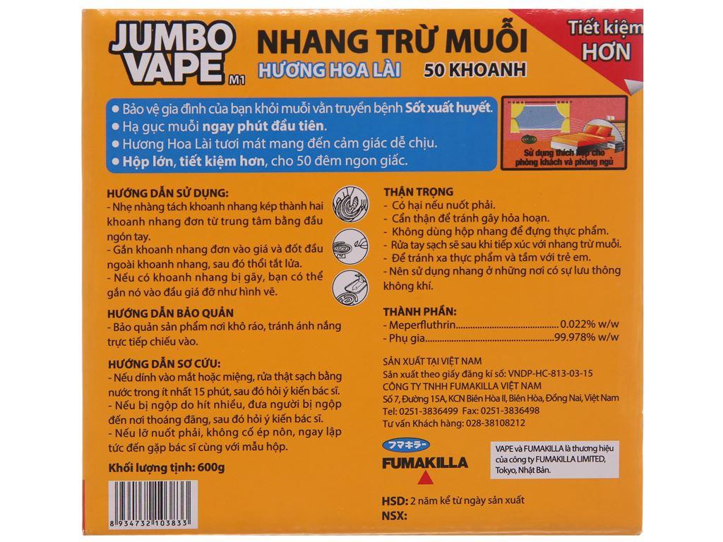 Nhang muỗi Jumbo Hương hoa lài 50 khoanh 2