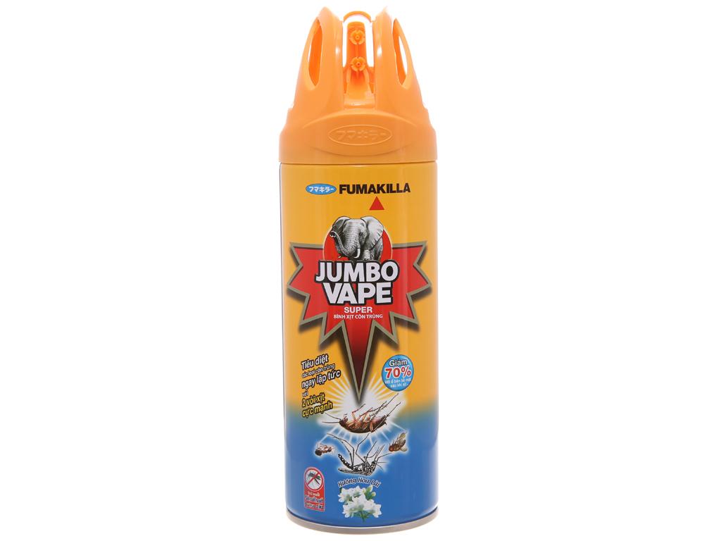 Bình xịt côn trùng Jumbo Vape SUPER hương hoa Lài 300ml 2