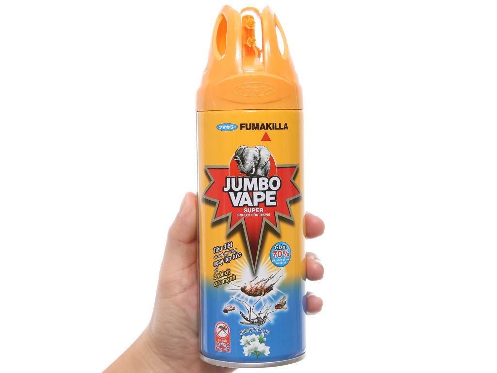 Bình xịt côn trùng Jumbo Vape SUPER Hương hoa lài 300ml 4