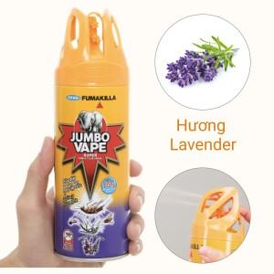 Bình xịt côn trùng Jumbo Vape SUPER hương lavender Pháp 300ml