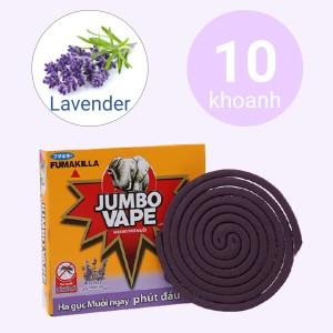 10 khoanh nhang muỗi Jumbo Vape hương lavender 120g