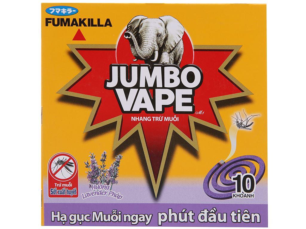 10 khoanh nhang muỗi Jumbo Vape hương Lavender 2