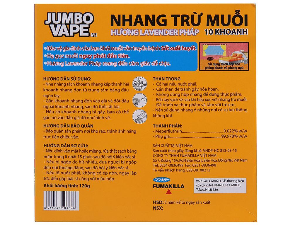 10 khoanh nhang muỗi Jumbo Vape hương Lavender 3