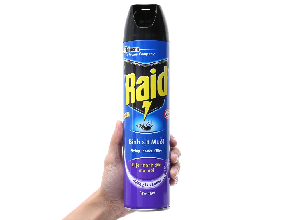 Bình xịt muỗi Raid Hương Lavender 600ml 5