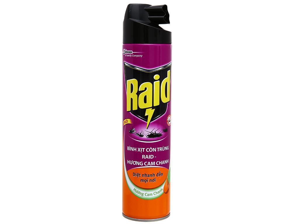 Bình xịt côn trùng Raid hương cam chanh 600ml 1