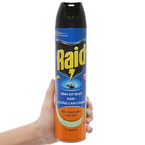 Bình xịt muỗi Raid hương cam & chanh 600ml