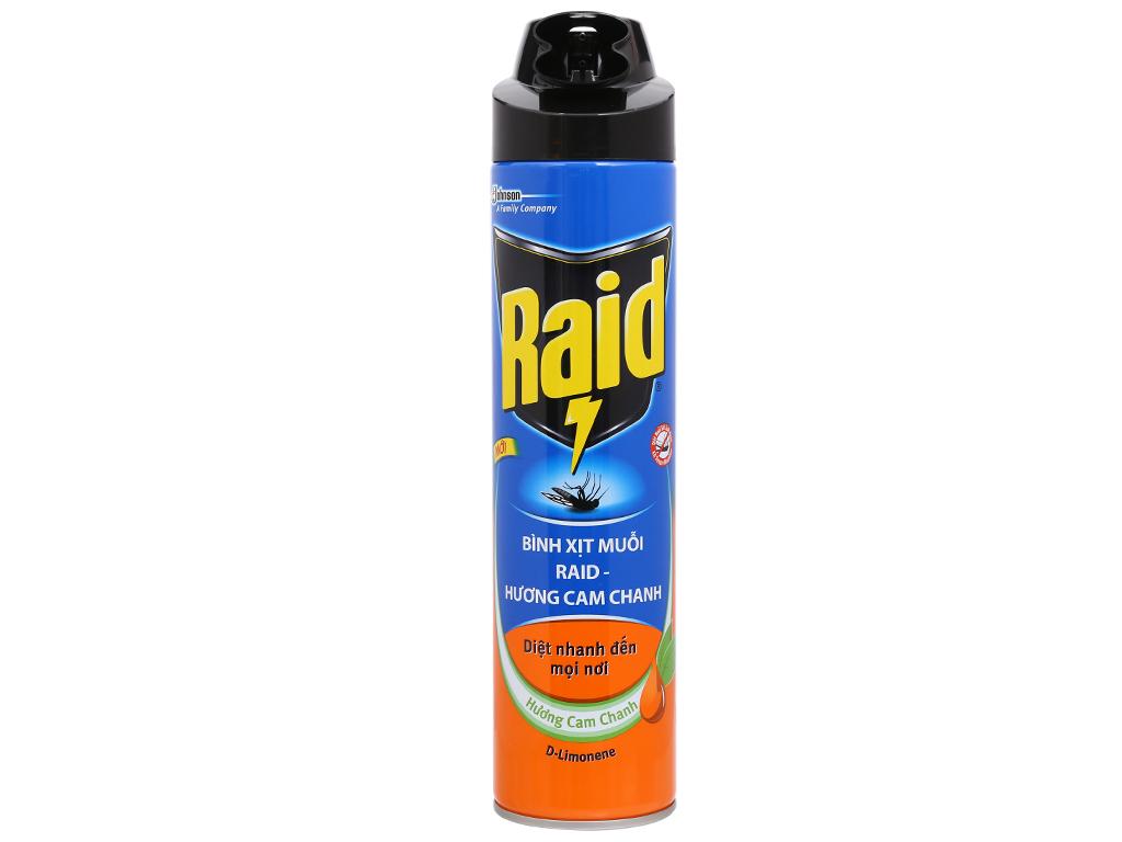 Bình xịt muỗi Raid hương cam & chanh 600ml 1