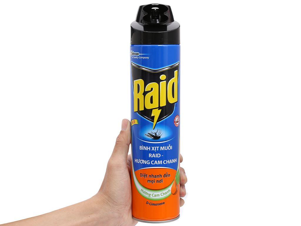 Bình xịt muỗi Raid hương cam & chanh 600ml 5