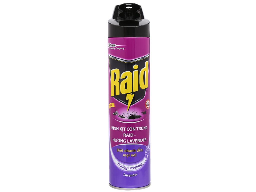 Bình xịt côn trùng Raid hương lavender 600ml 1