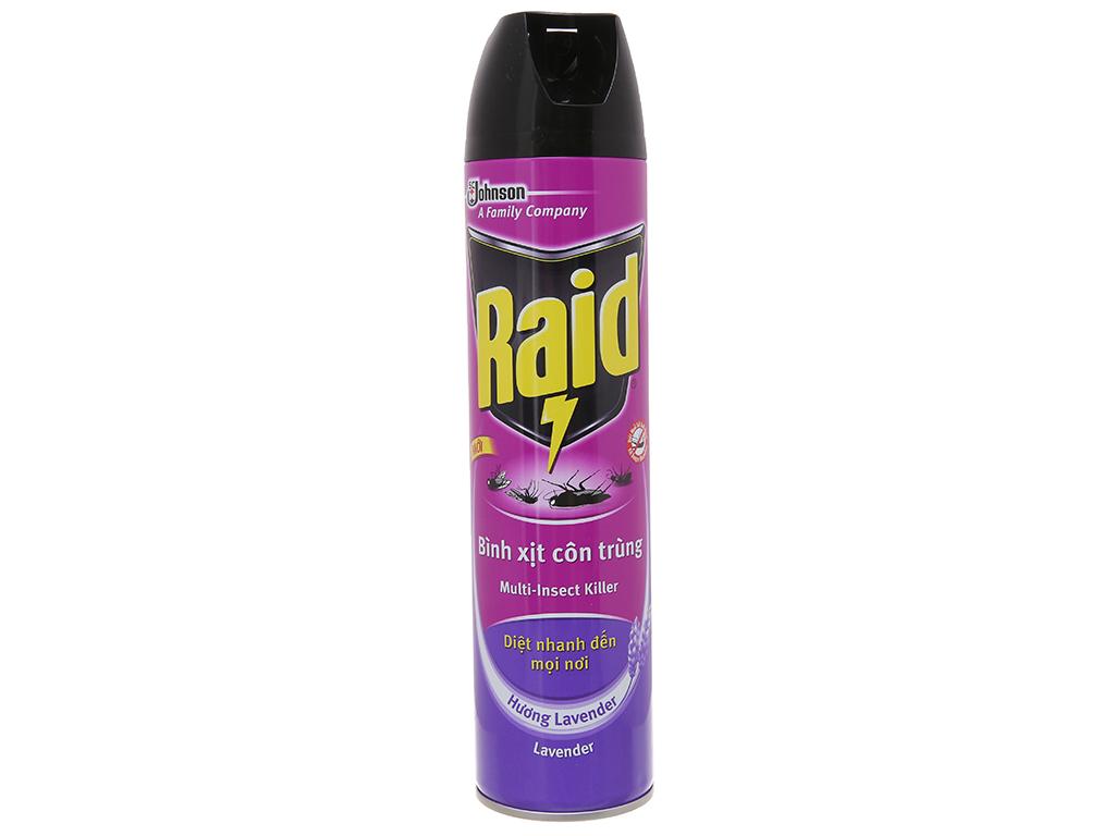 Bình xịt côn trùng Raid hương Lavender 600ml 2
