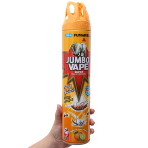 Bình xịt côn trùng Jumbo Vape SUPER hương cam & chanh 600ml