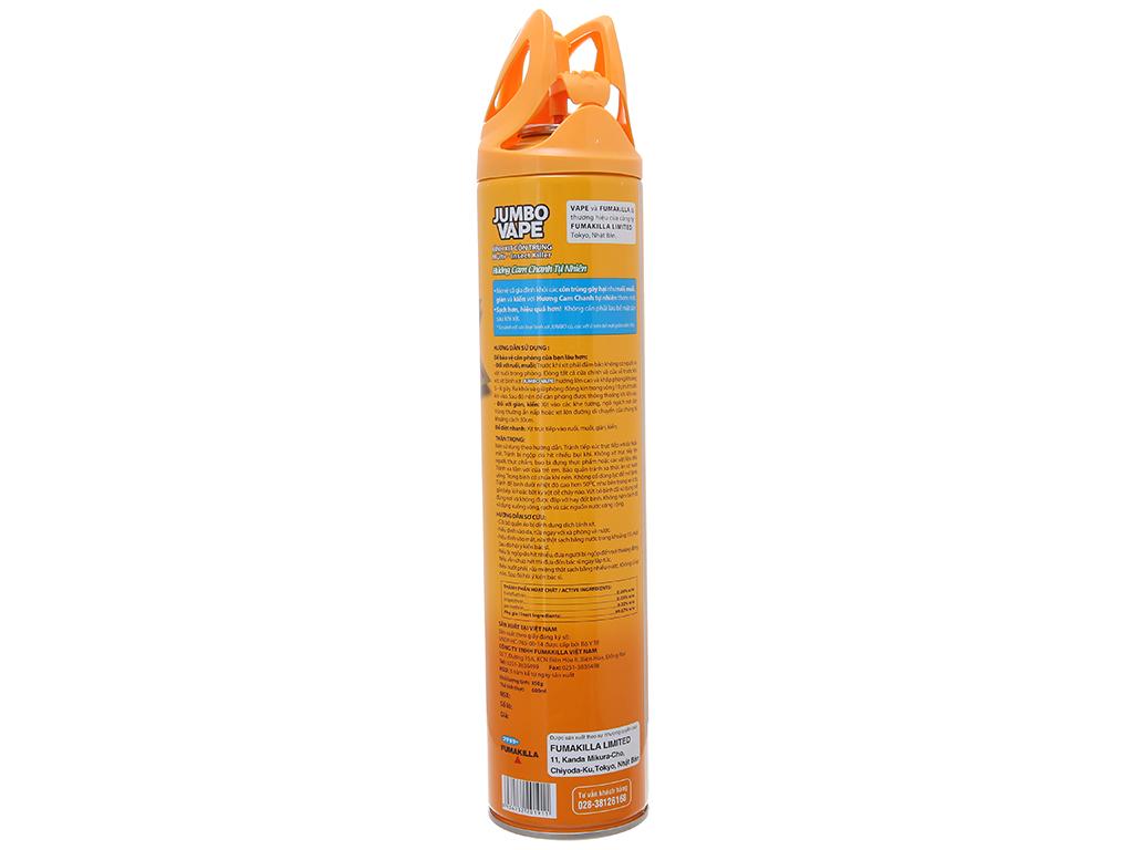Bình xịt côn trùng Jumbo Vape SUPER hương cam & chanh 600ml 3