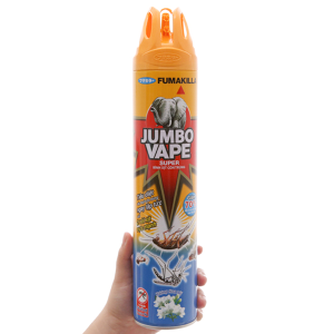 Bình xịt côn trùng Jumbo Vape SUPER hương hoa Lài 600ml