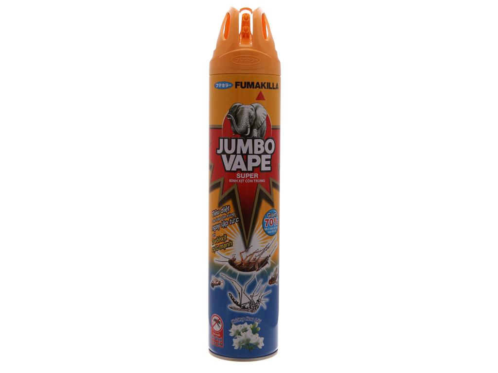 Bình xịt côn trùng Jumbo Vape SUPER hương hoa Lài 600ml 2