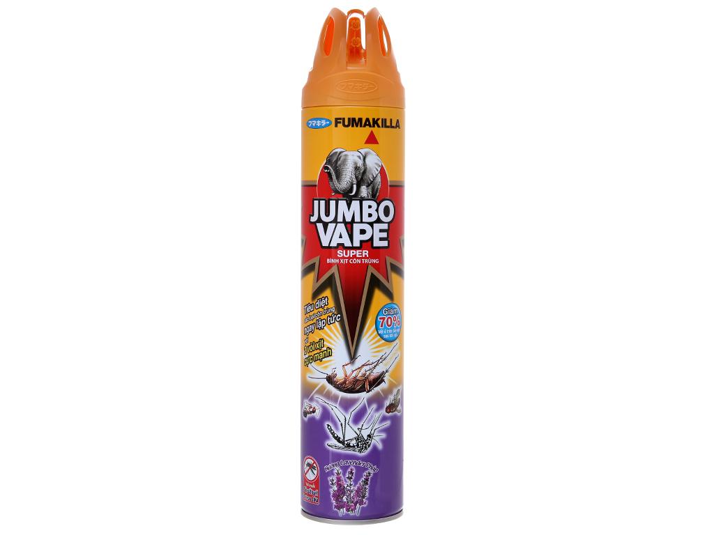 Bình xịt côn trùng Jumbo Vape SUPER Hương Lavender Pháp 600ml 2