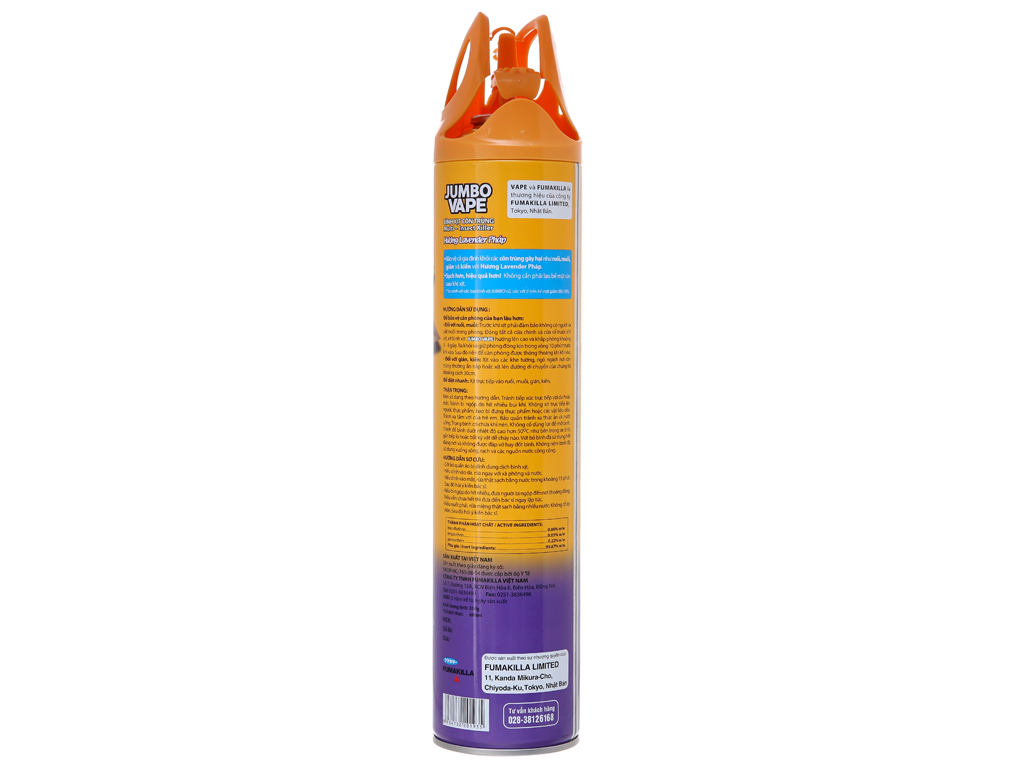 Bình xịt côn trùng Jumbo Vape SUPER Hương Lavender Pháp 600ml 3