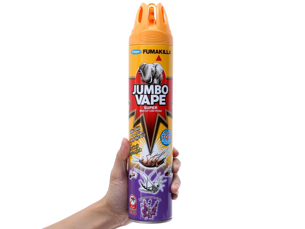 Bình xịt côn trùng Jumbo Vape SUPER hương lavender Pháp 600ml 5