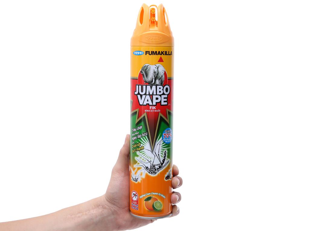 Bình xịt muỗi Jumbo Vape FIK hương cam & chanh 600ml 1