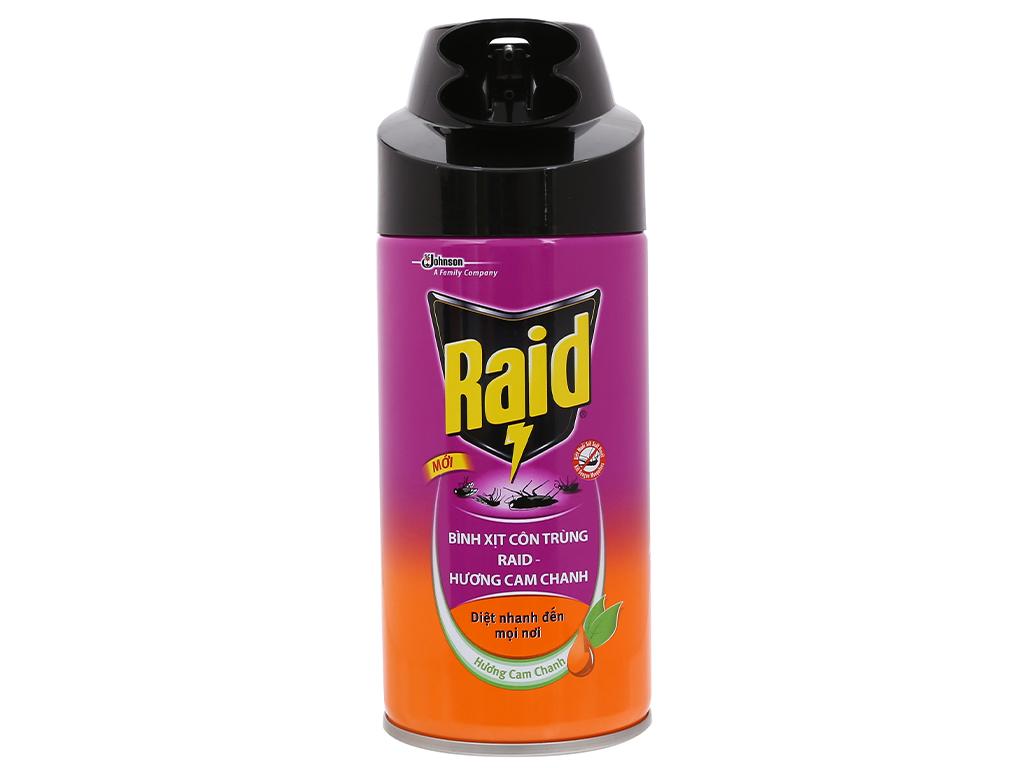 Bình xịt côn trùng Raid hương cam chanh 300ml 1