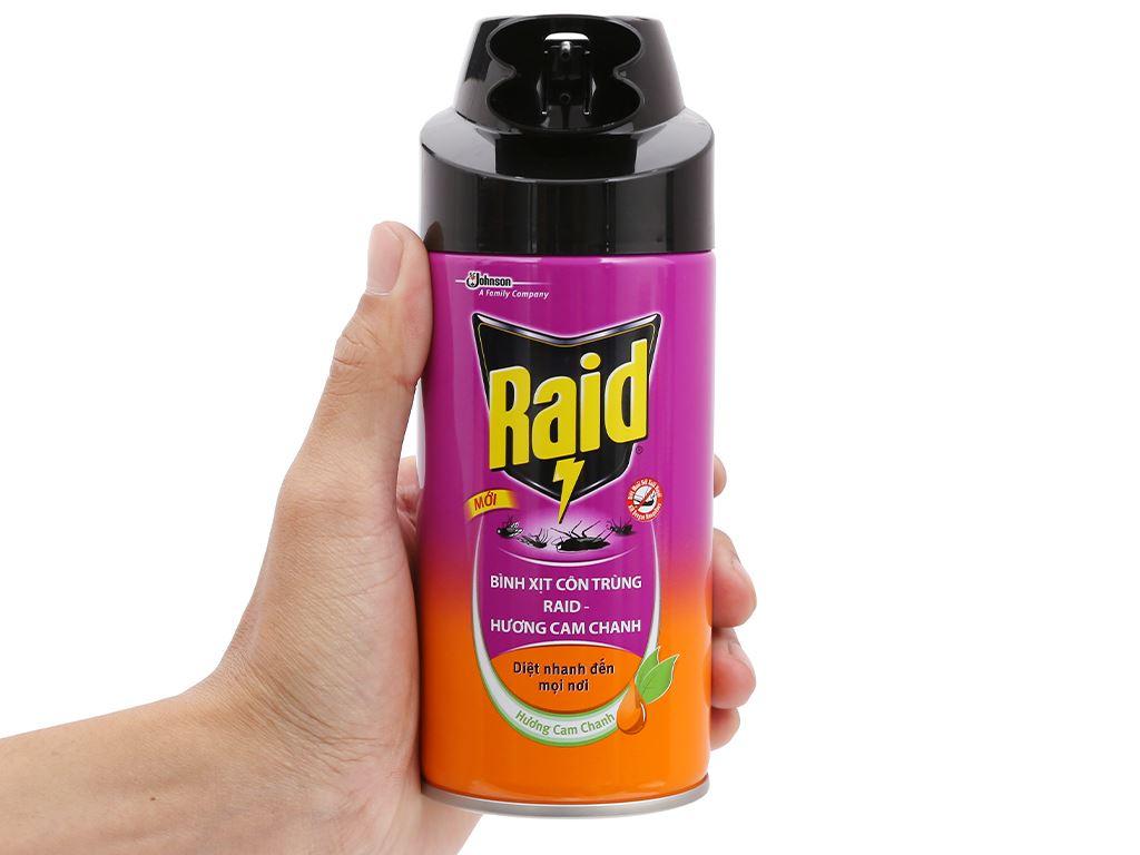 Bình xịt côn trùng Raid hương cam chanh 300ml 5