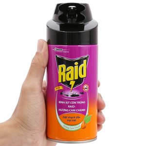 Bình xịt côn trùng Raid hương cam & chanh 300ml