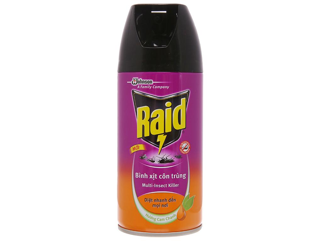 Bình xịt côn trùng Raid hương cam & chanh 300ml 2