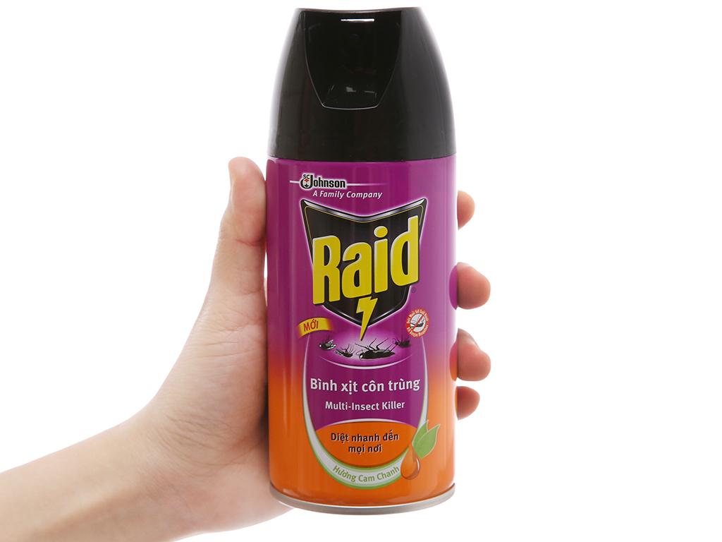Bình xịt côn trùng Raid hương cam & chanh 300ml 5