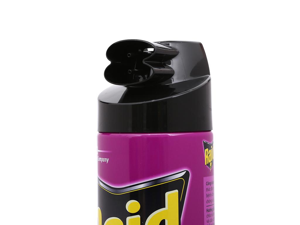 Bình xịt côn trùng Raid hương dầu khuynh diệp 600ml 3