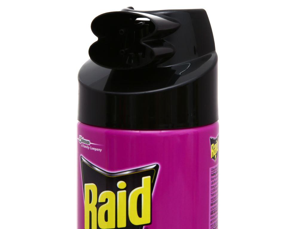Bình xịt côn trùng Raid hương lavender 300ml 3
