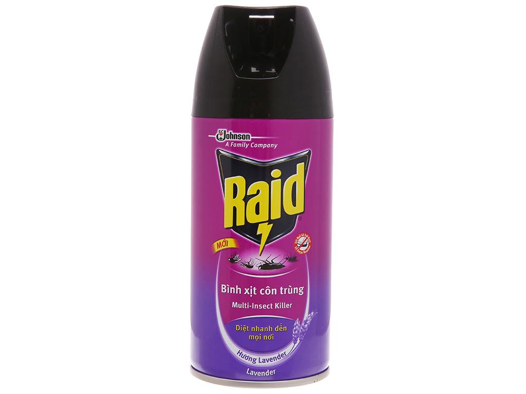 Bình xịt côn trùng Raid hương Lavender 300ml 2