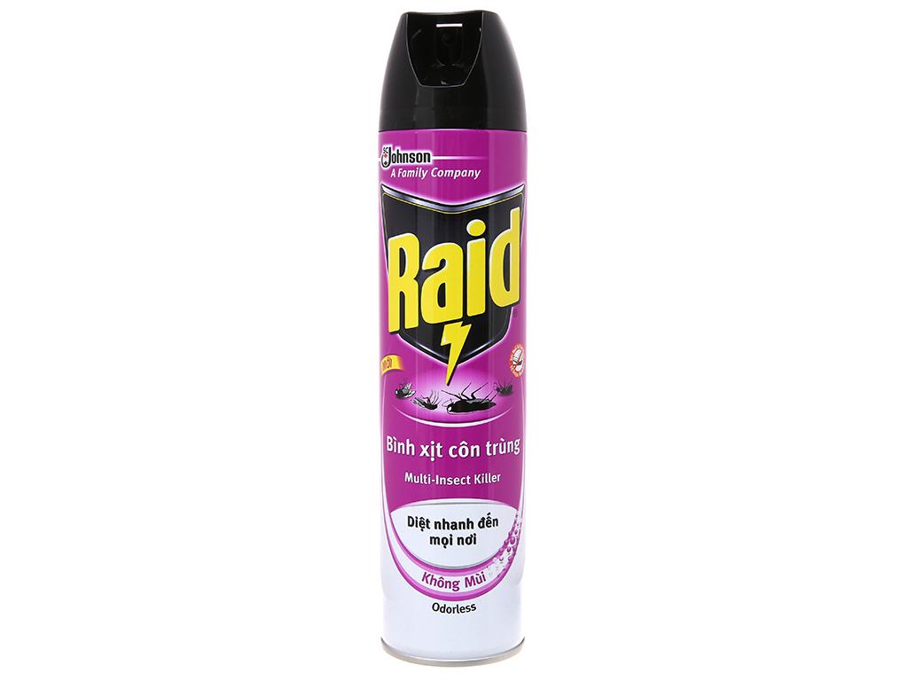 Bình xịt côn trùng Raid Không mùi 600ml 2