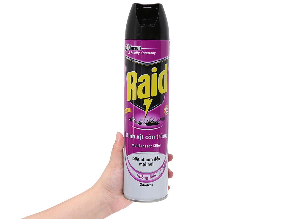Bình xịt côn trùng Raid Không mùi 600ml 5