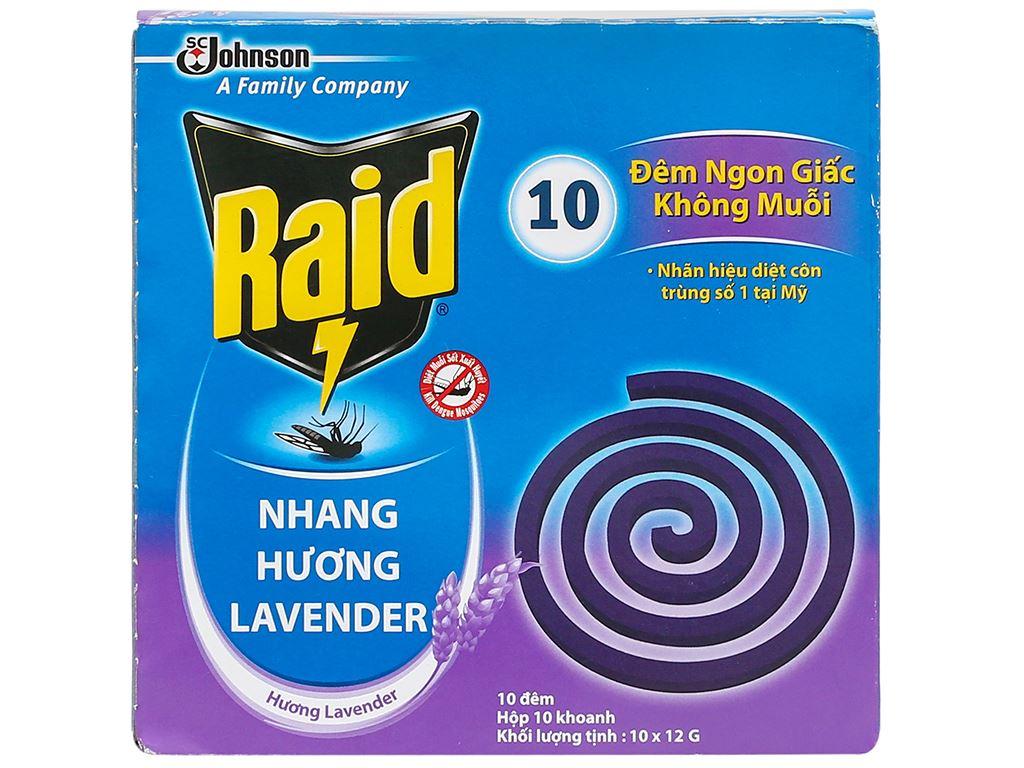 10 khoanh nhang muỗi Raid hương lavender 1
