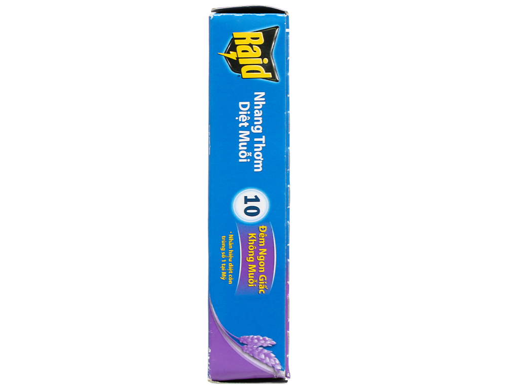 10 khoanh nhang muỗi Raid hương lavender 3
