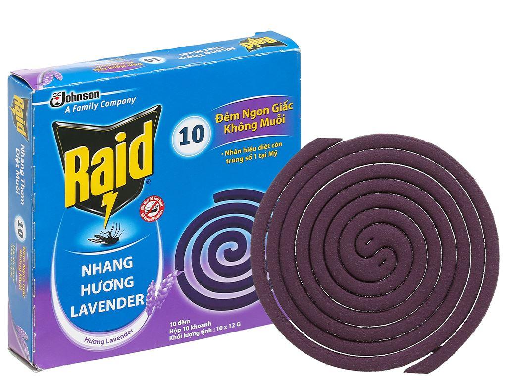 10 khoanh nhang muỗi Raid hương lavender 5