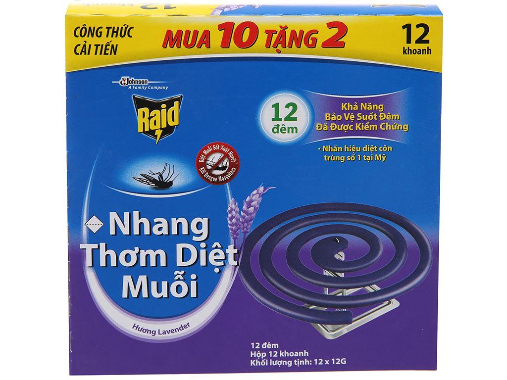 12 khoanh nhang muỗi Raid hương lavender 2