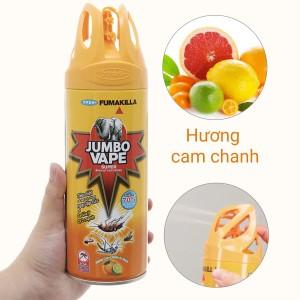 Bình xịt côn trùng Jumbo Vape SUPER hương cam chanh 300ml